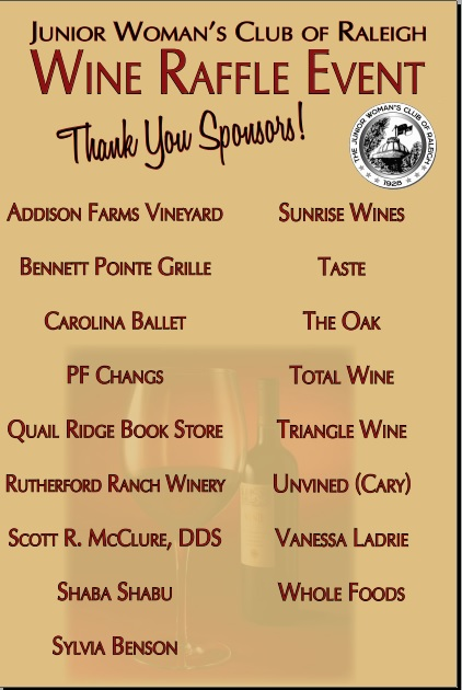 JWC - 3rd Annual Stock Your Cellar Wine Raffle Sponsors
